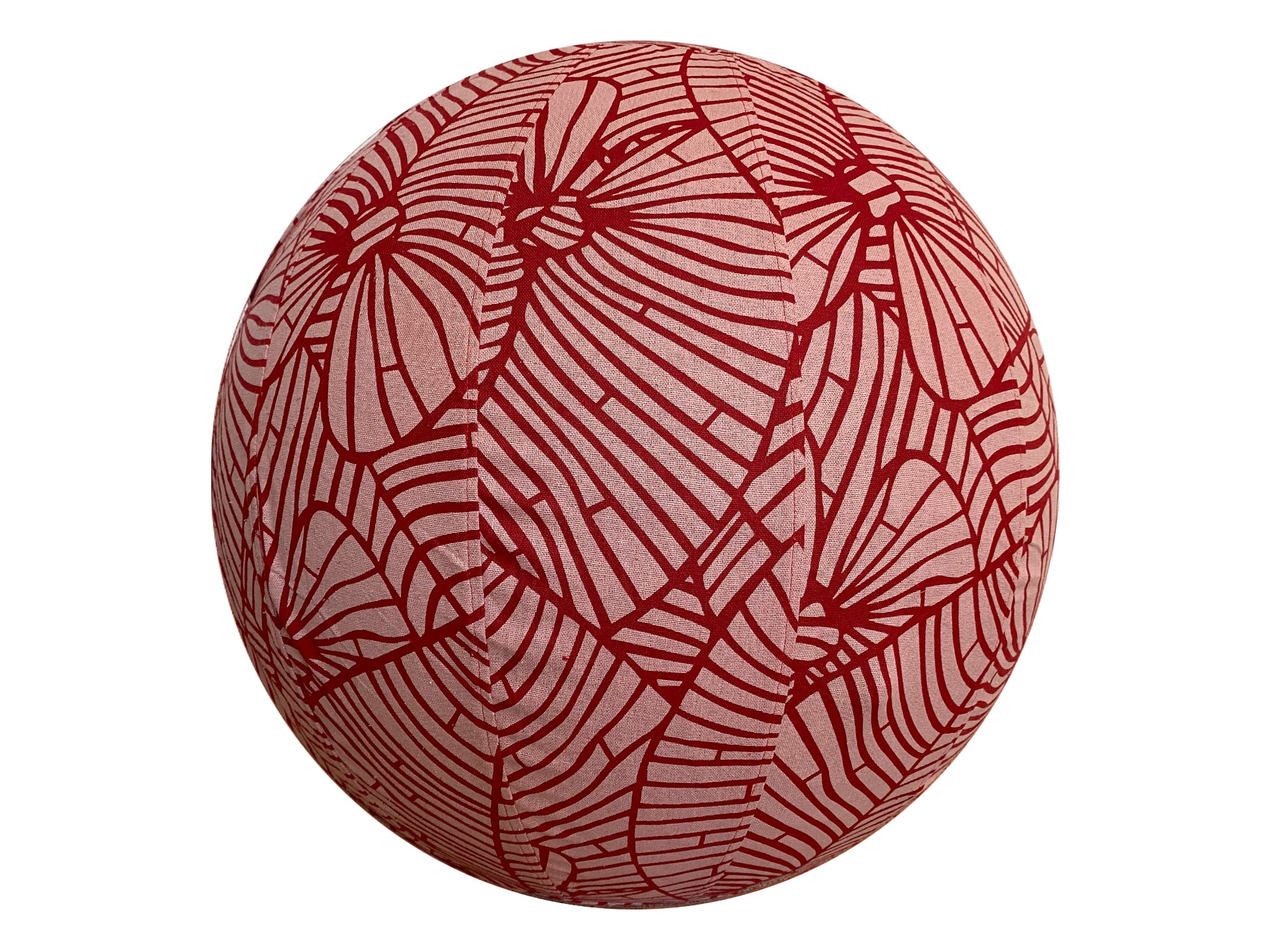 55cm Balance Ball / Yoga Ball Cover: Palm Leaf in Papaya