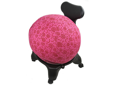 Pretty in Pink! Balance Ball / Yoga Ball Cover: Pink Swirl Yoga Ball Cover - Global Groove Life - 2