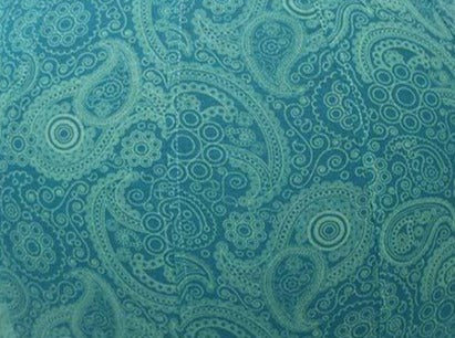 45cm Balance Ball /Yoga Ball Cover: Teal Paisley