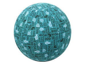 45cm Balance Ball / Yoga Ball Cover: Teal Fish