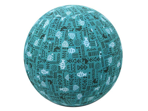 45cm Balance Ball / Yoga Ball Cover: Teal Fish - Global Groove Life