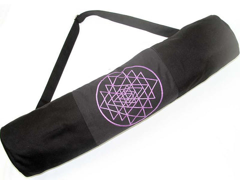 Sri Yantra Yoga Mat Bag - LIME - Global Groove Life