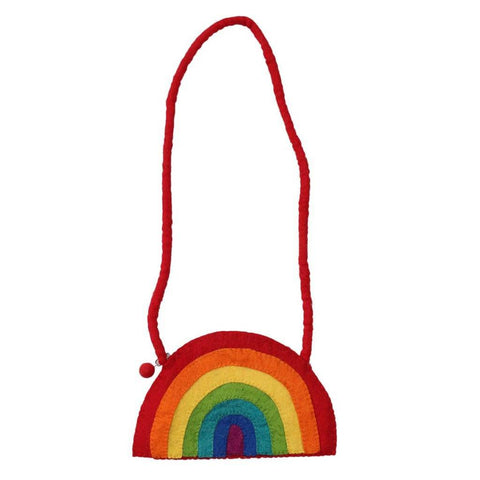 Felt Rainbow Shoulder Bag - Global Groove
