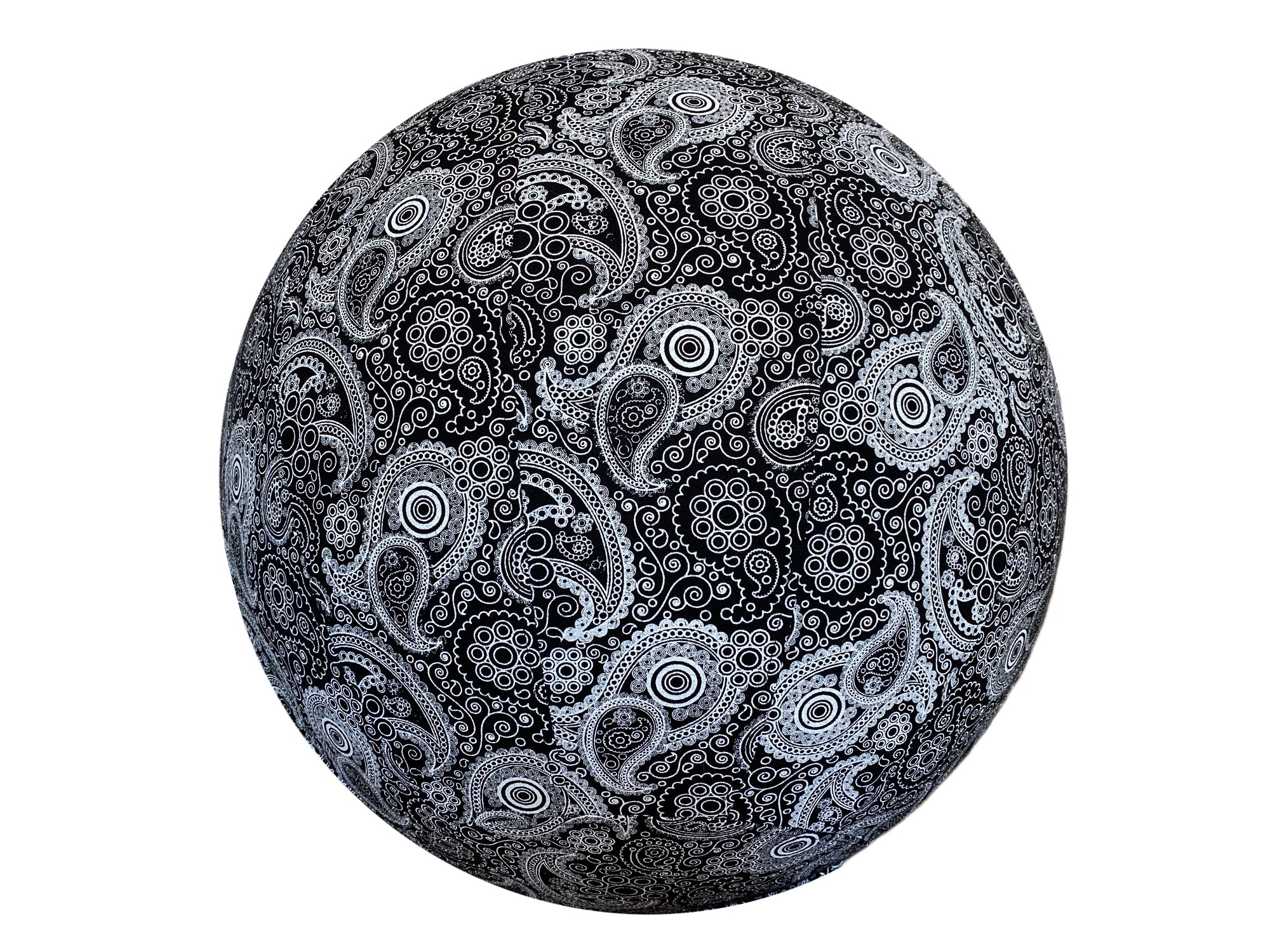 65cm Balance Ball / Yoga Ball Cover: Black Paisley