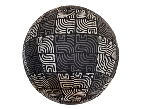 65cm Balance Ball / Yoga Ball Cover: Black Labyrinth