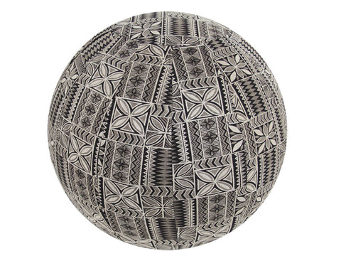 Balance Ball / Yoga Ball Stretch Cover: Black Retro Vibe Accessories - Global Groove Life
