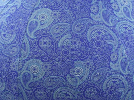 65cm Balance Ball / Yoga Ball Cover: Blue Paisley
