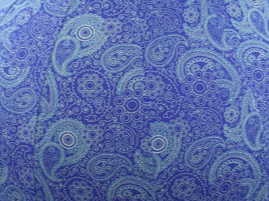 55cm Balance Ball / Yoga Ball Cover: Blue Paisley