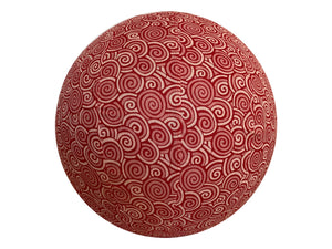45cm Balance Ball / Yoga Ball Cover: Poppy Swirl