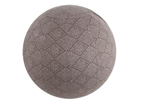 65cm Balance Ball / Yoga Ball Stretch Cover: Taupe Tribe - Global Groove Life
