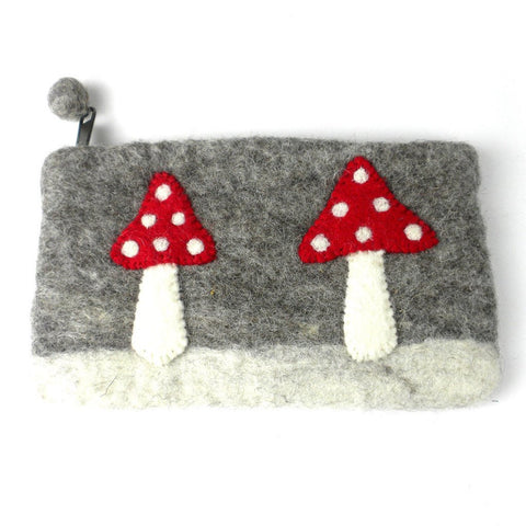 Handmade Felt Mushroom Clutch - Global Groove (P) - Global Groove Life