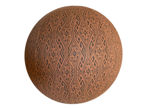 75cm Balance Ball / Yoga Ball Cover: Clay Aztec