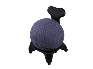 55cm Balance Ball / Yoga Ball Cover: Cobalt Geometric