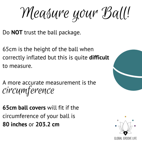65cm Balance Ball / Yoga Ball Cover: Grey