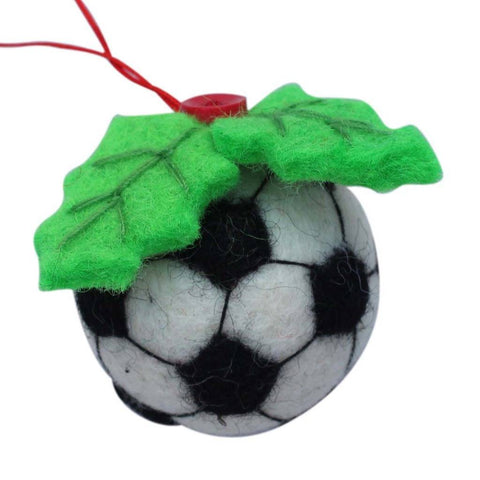 Soccer Ball Felt Ornament - Global Groove (H) - Global Groove Life