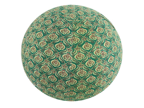 Balance Ball / Yoga Ball Stretch Cover: Green Bohemian Accessories - Global Groove Life