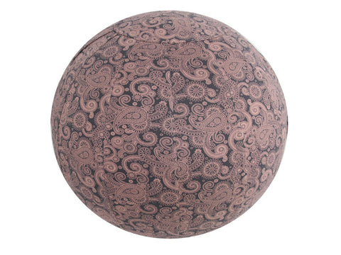 Balance Ball / Yoga Ball Stretch Cover: Grey Paisley Accessories - Global Groove Life