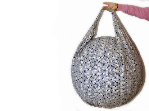 Bag-style Yoga Ball Cover - Purple Palm - Global Groove Life