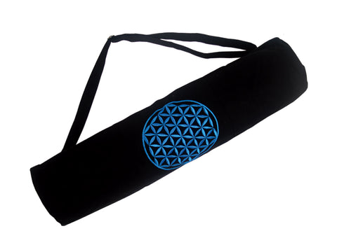 Flower of Life Yoga Mat Bag - TEAL - Global Groove Life