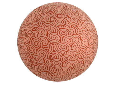 Balance Ball / Yoga Ball Stretch Cover: Orange Swirl Accessories - Global Groove Life