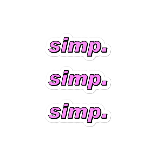 simp. stickers