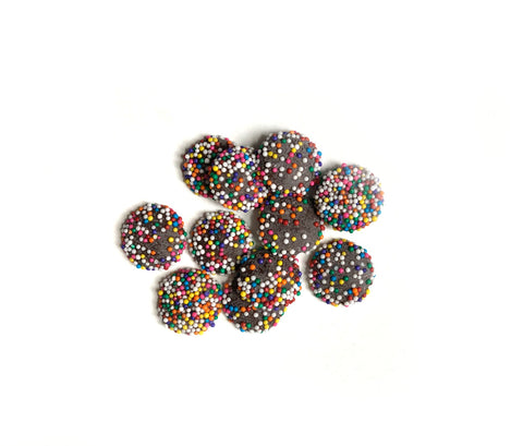 Dark Chocolate Discos/Rainbow Nonpareils
