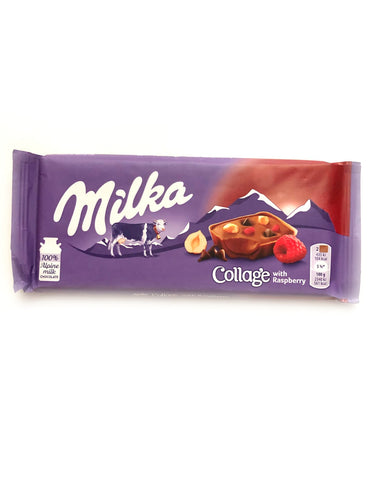 Milka Collage Raspberry