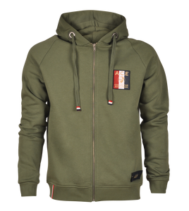 Who´s A.C.E ziphood with flag emb chest