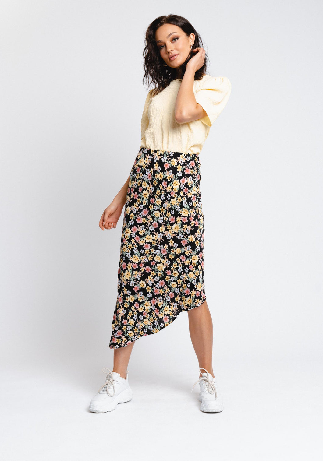 ZANDRA ASYMMETRIC SKIRT