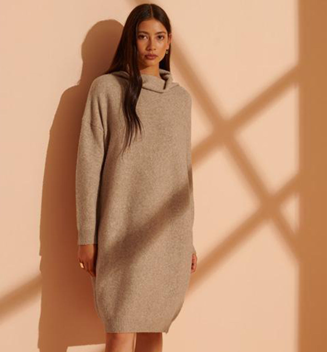 ISABELLA FUNNEL NECK DRESS