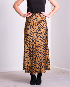 Bovary Satin Zebra Skirt