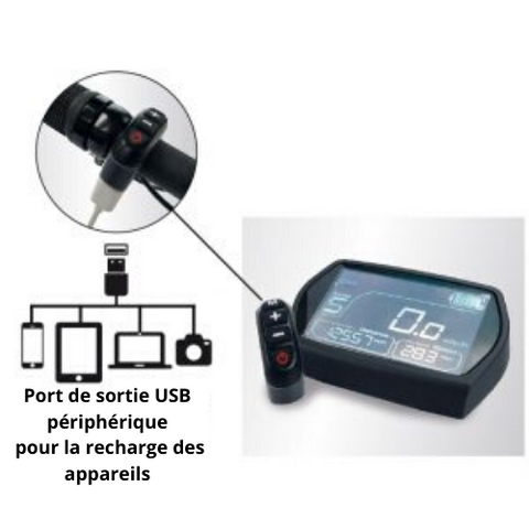 Port USB Fat-bike électrique Potenza