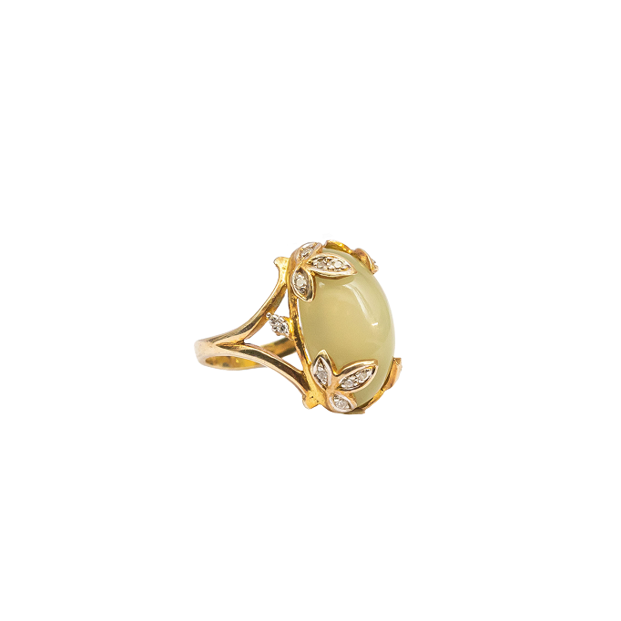 Green Moonstone ring