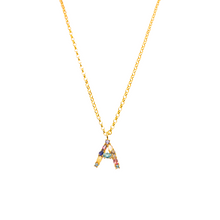 "Load image into Gallery viewer, Initial necklace ""A"""