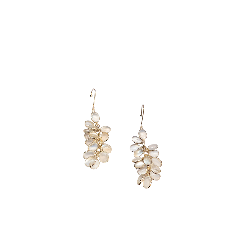 Moonstone bunch earrings