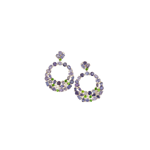 Iolite & diaopside earrings