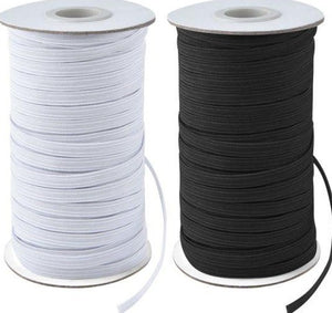 5 mm Elastic (1/4inch) - Black - 10 metre