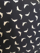 Load image into Gallery viewer, Quilting Cotton - Dolphin - Navy  - 1/2 metre