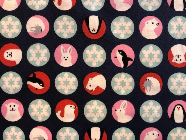 Quilting Cotton - Arctic Friends - 1/2 metre