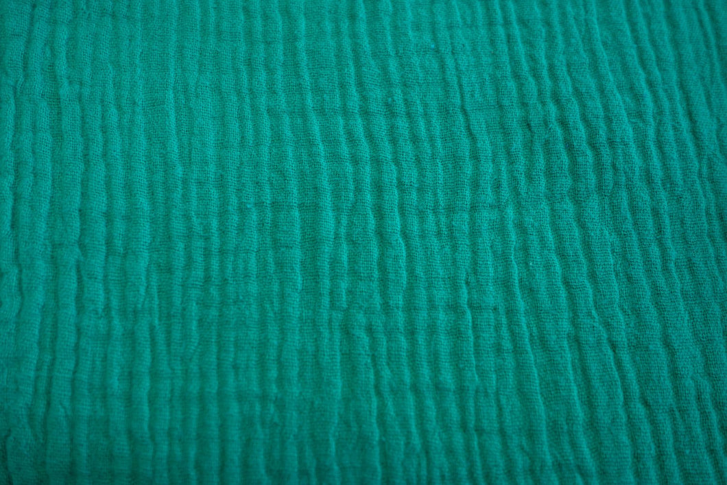Cotton Double Gauze - Emerald - 1/2 meter