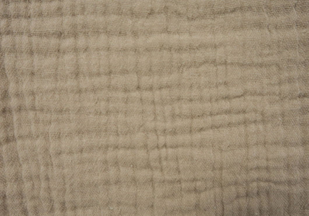 Cotton Double Gauze - Natural - 1/2 meter