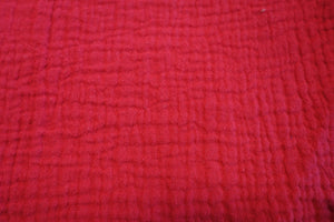 Cotton Double Gauze - Ruby - 1/2 meter