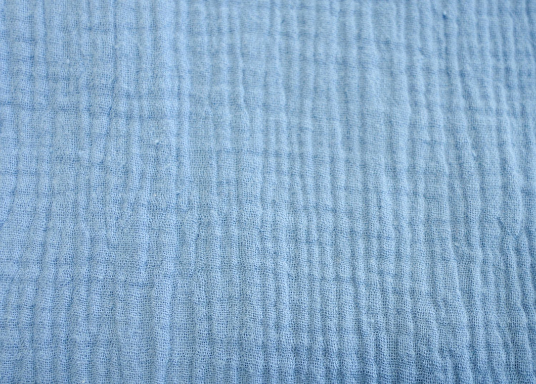Cotton Double Gauze -Sky Blue - 1/2 meter