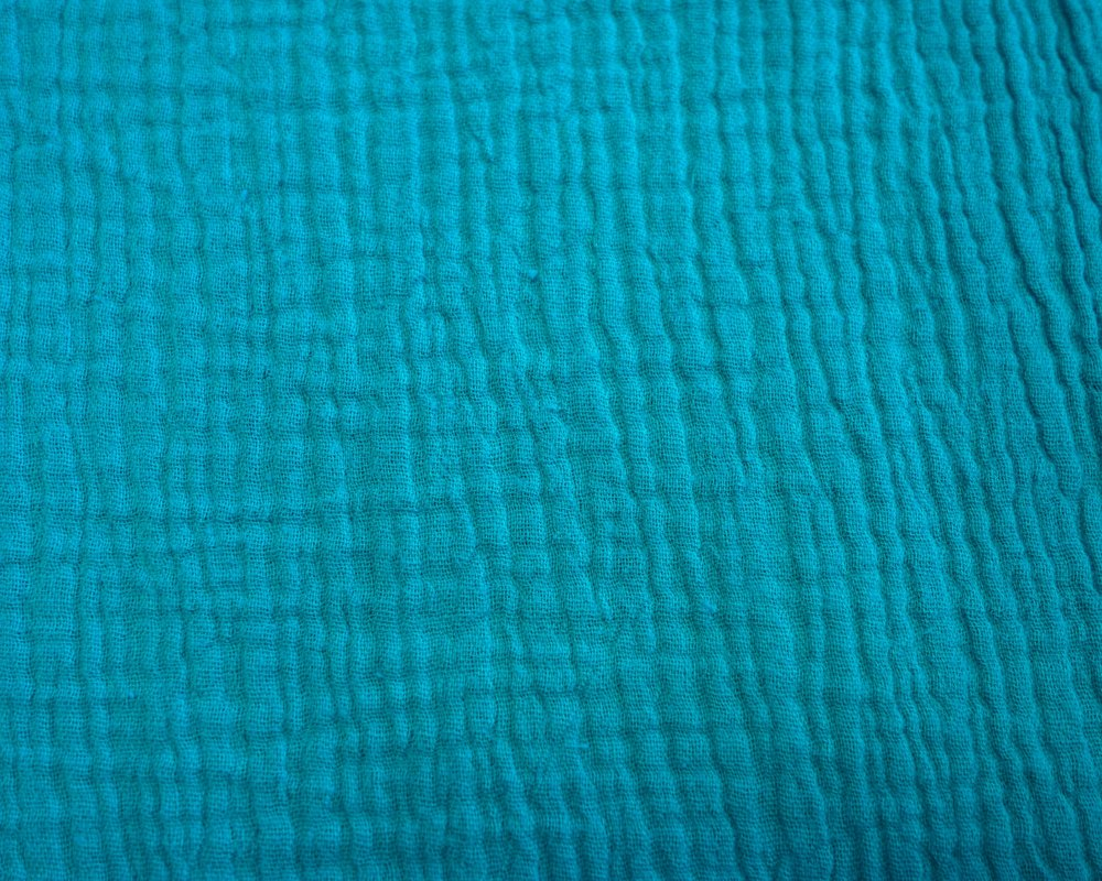 Cotton Double Gauze -Teal - 1/2 meter