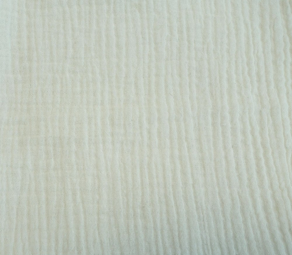 Cotton Double Gauze - Vanilla - 1/2 meter