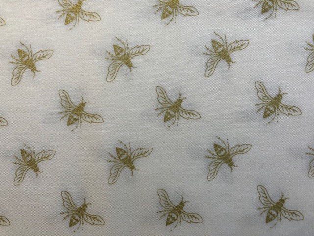 Quilting Cotton  - Bees Gold - 1/2 meter