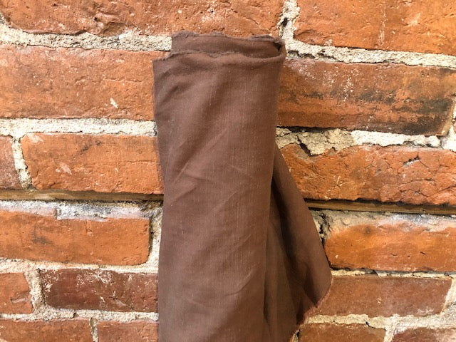 Linen Viscose Textured - Chocolate - 1/2 metre