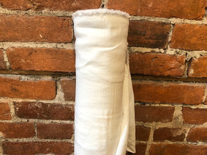 Linen Viscose Textured - White- 1/2 metre