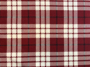 Quilting Cotton - Christmas Plaid - 1/2 metre