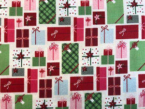 Quilting Cotton - Christmas Presents - 1/2 metre